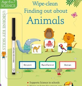 Usborne Wipe Clean: Finding Out About Animals