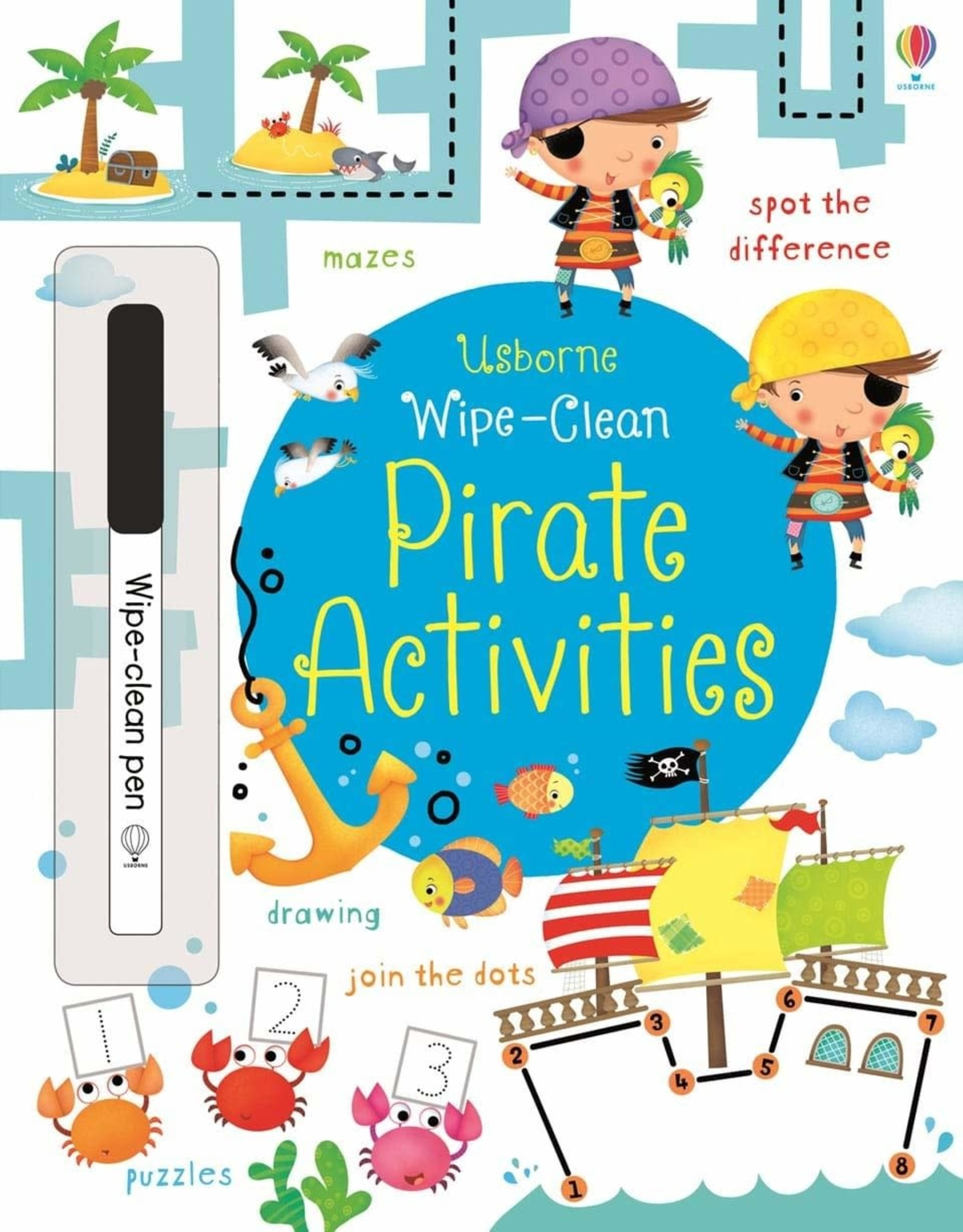 Usborne Wipe Clean: Pirate Activities