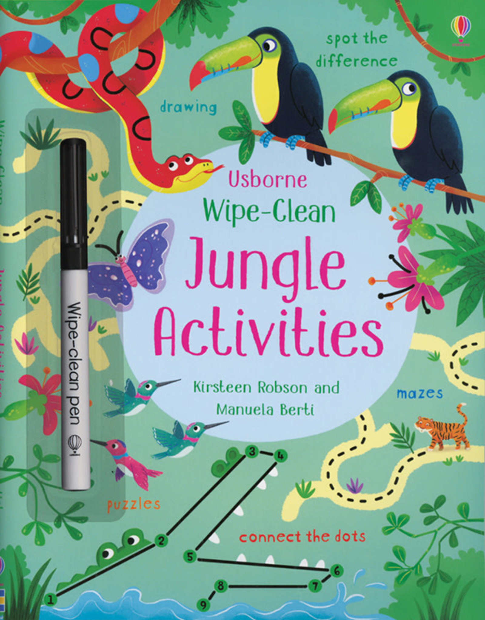 Usborne Wipe Clean Jungle Activities