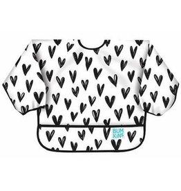 Bumkins Bumkins Sleeved Bib - Hearts
