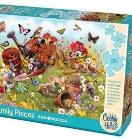 Cobble Hill Puzzles Garden Scene - 350 piece Family Puzzle