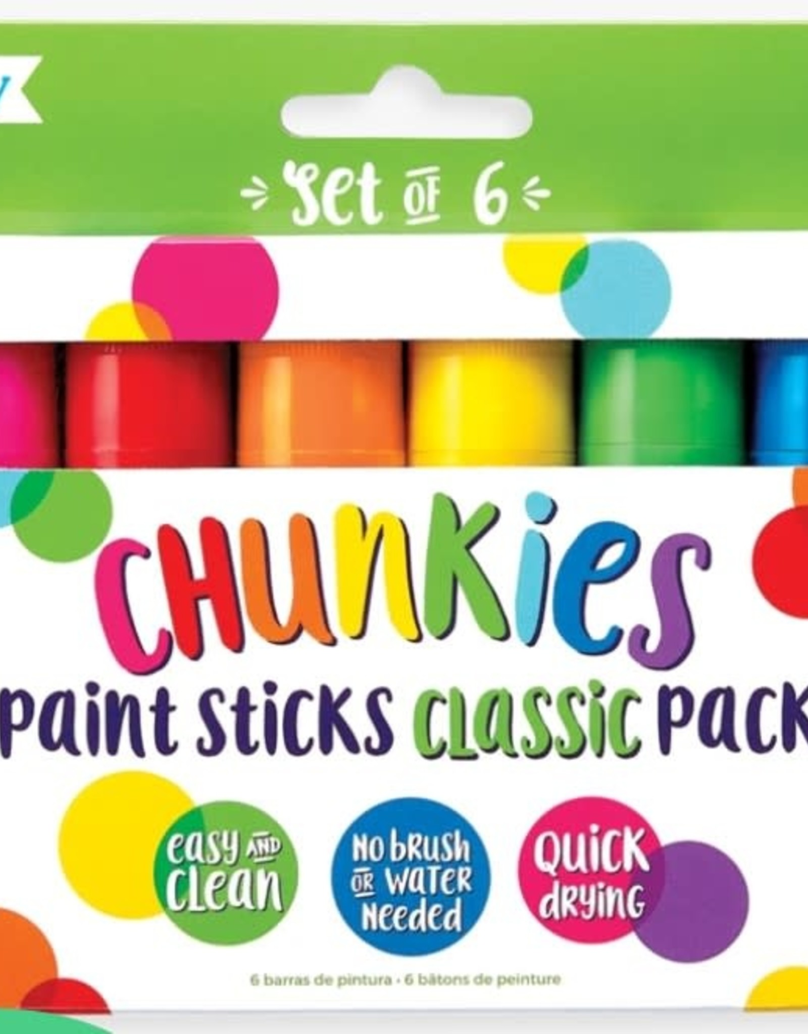 Ooly Chunkies Paint Sticks - Set of 6