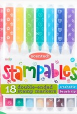 Ooly Stampables Double Ended Scented Markers - Set of 18