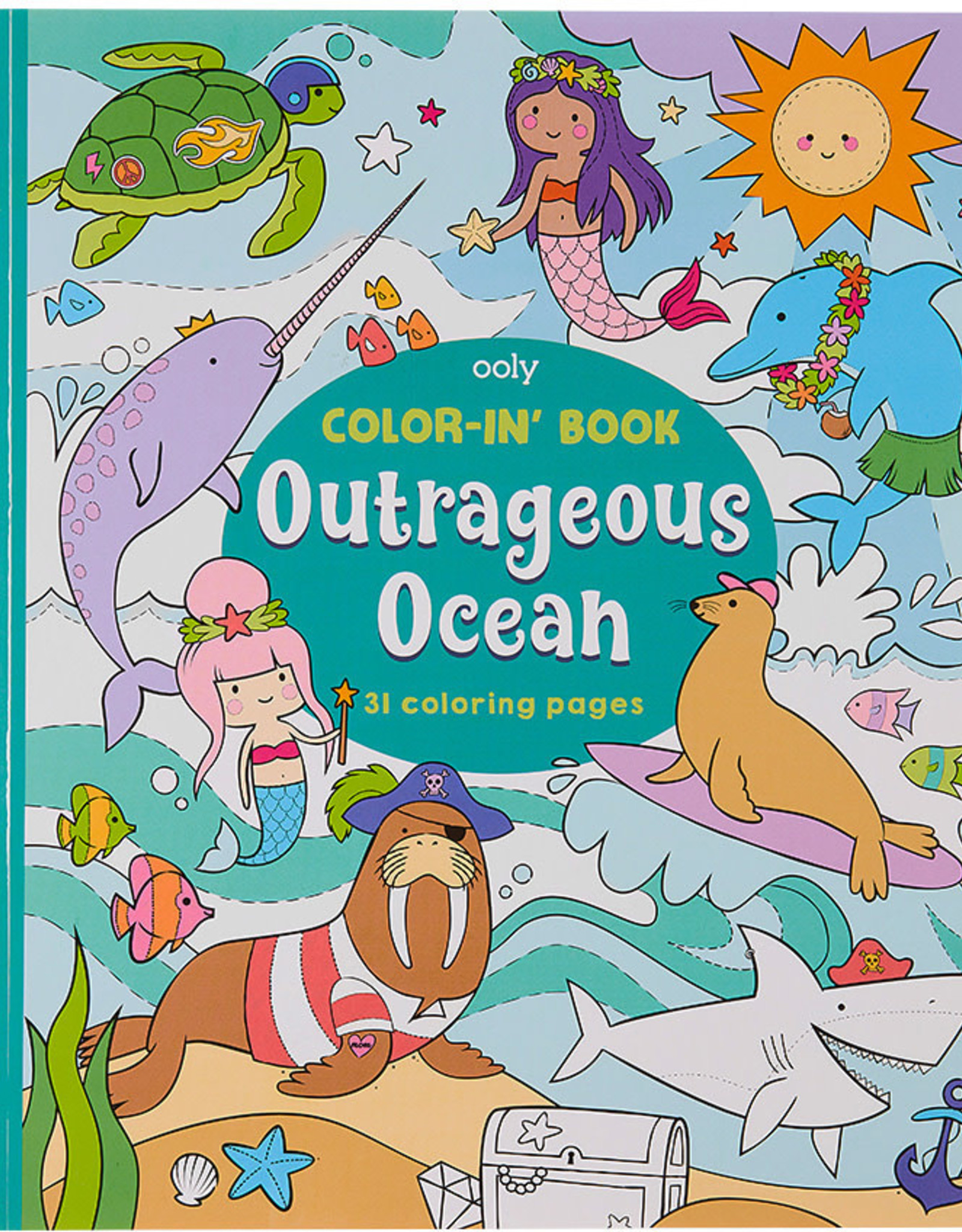 Ooly Outrageous Ocean Colouring Book
