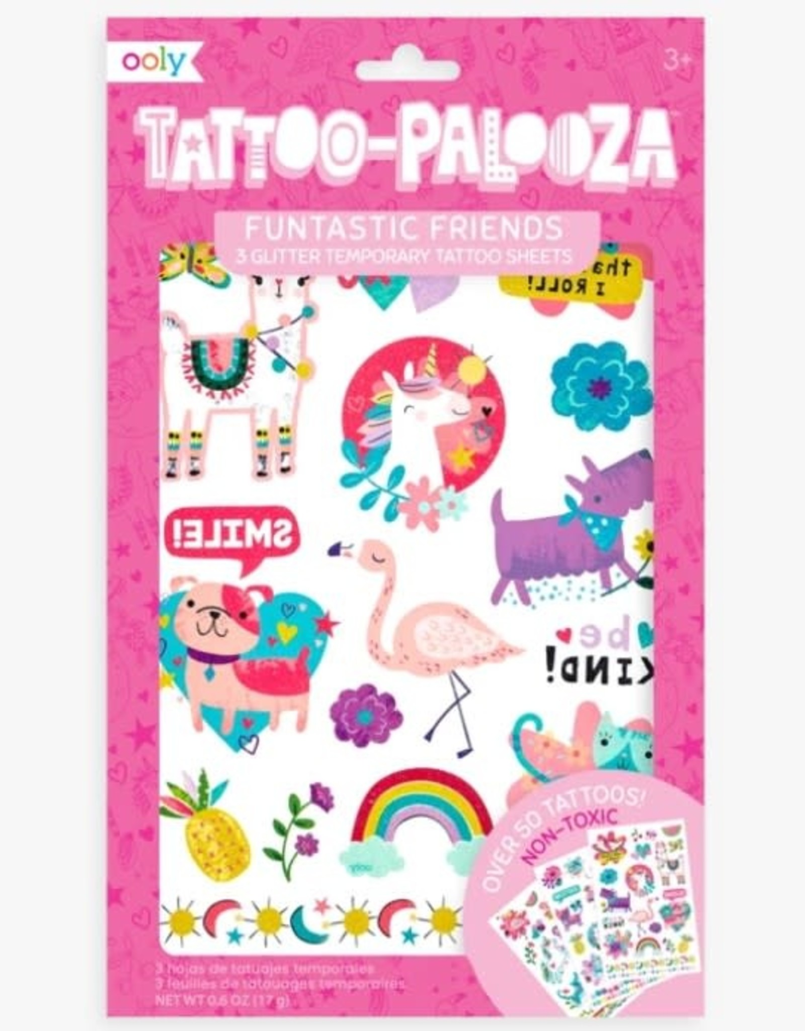 Ooly Tattoo Palooza Temporary Tattoos - Funtastic Friends