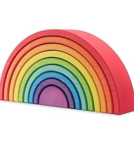 Ocamora 9 Piece Wooden Rainbow Stacker - Red