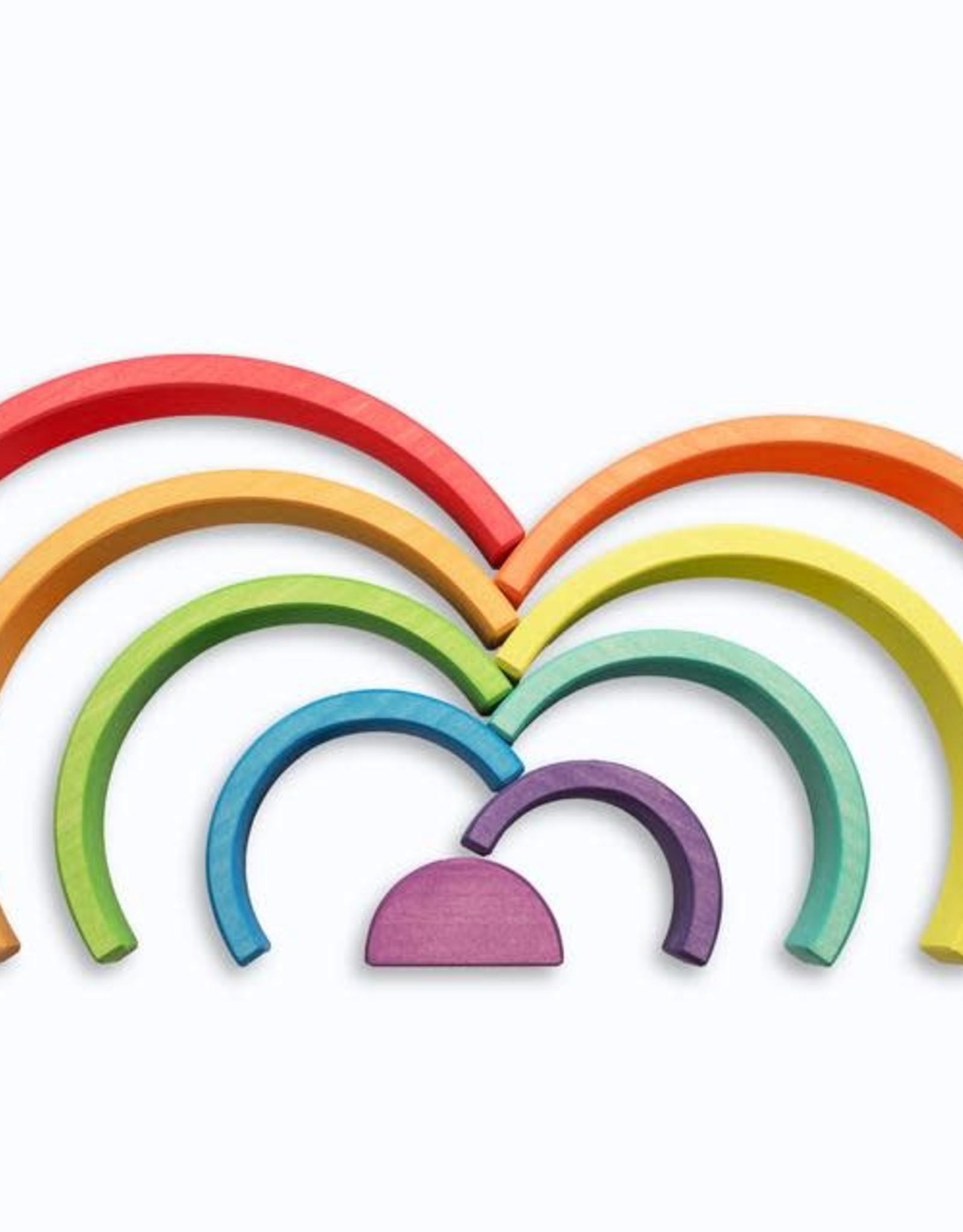 Ocamora 9 Piece Wooden Rainbow Stacker - Red