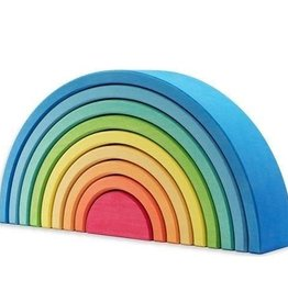 Ocamora 9 Piece Wooden Rainbow Stacker - Blue