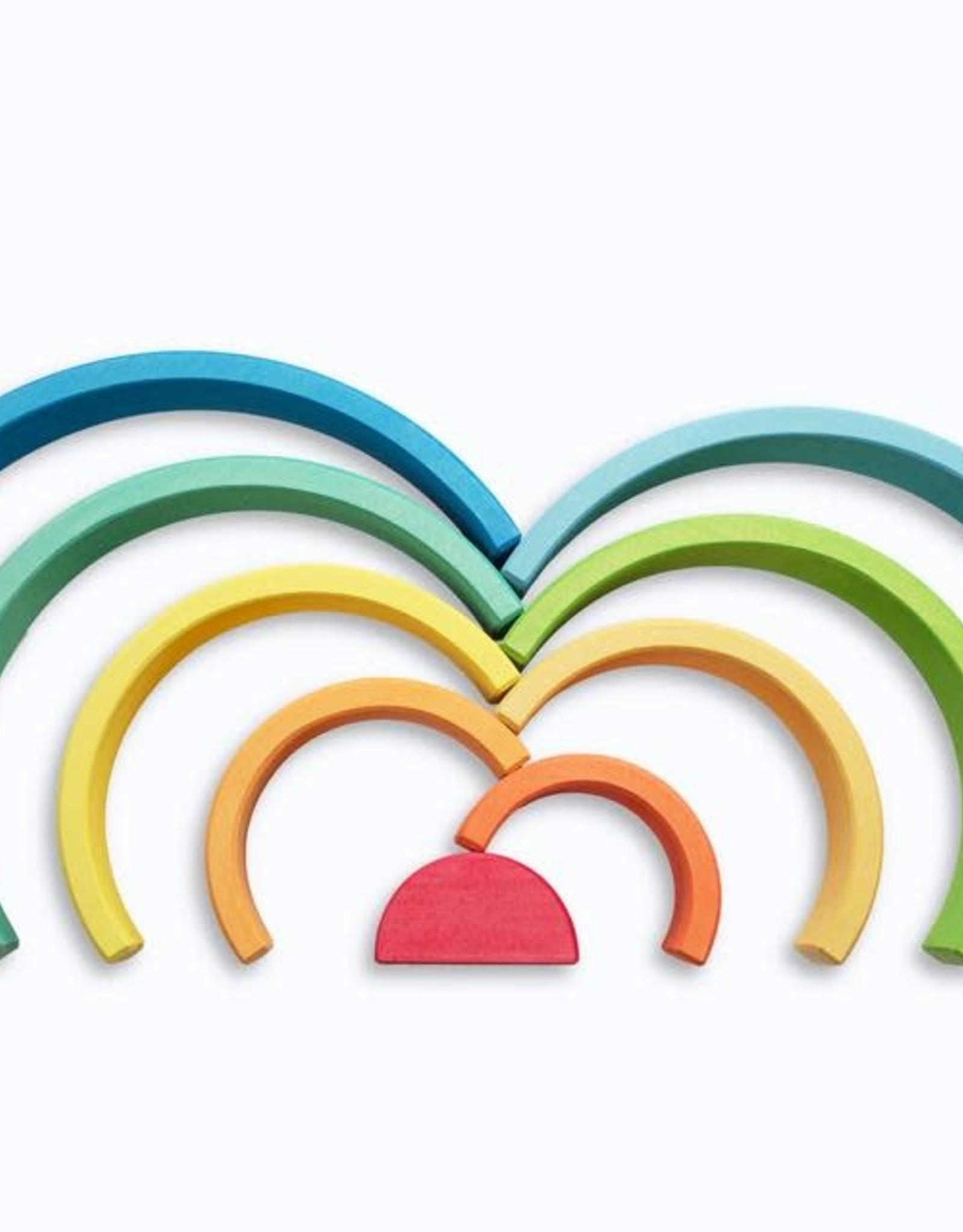 Ocamora 9 Piece Wooden Rainbow Stacker - Blue