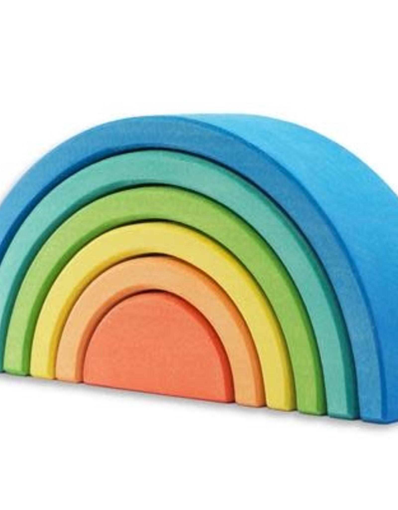 Ocamora 6 Piece Wooden Rainbow Stacker - Blue