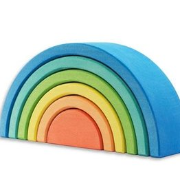 Ocamora 6 Piece Wooden Rainbow Stacker - Blue