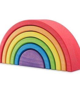 Ocamora 6 Piece Wooden Rainbow Stacker - Red