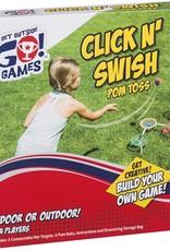 Toysmith Click N' Swish Pom Toss