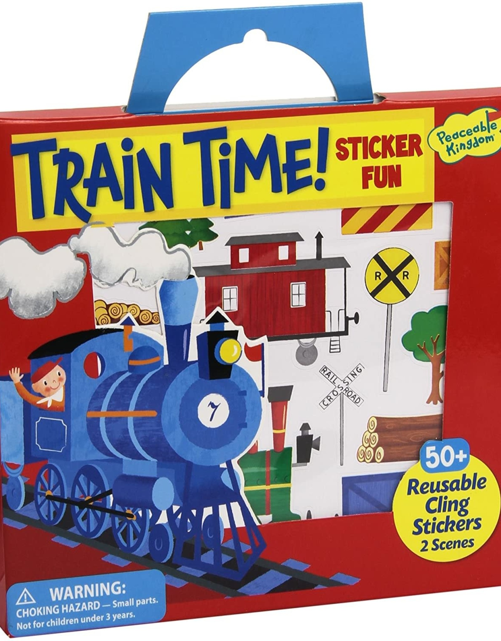 Peaceable Kingdom Reusable Sticker Tote - Train Time