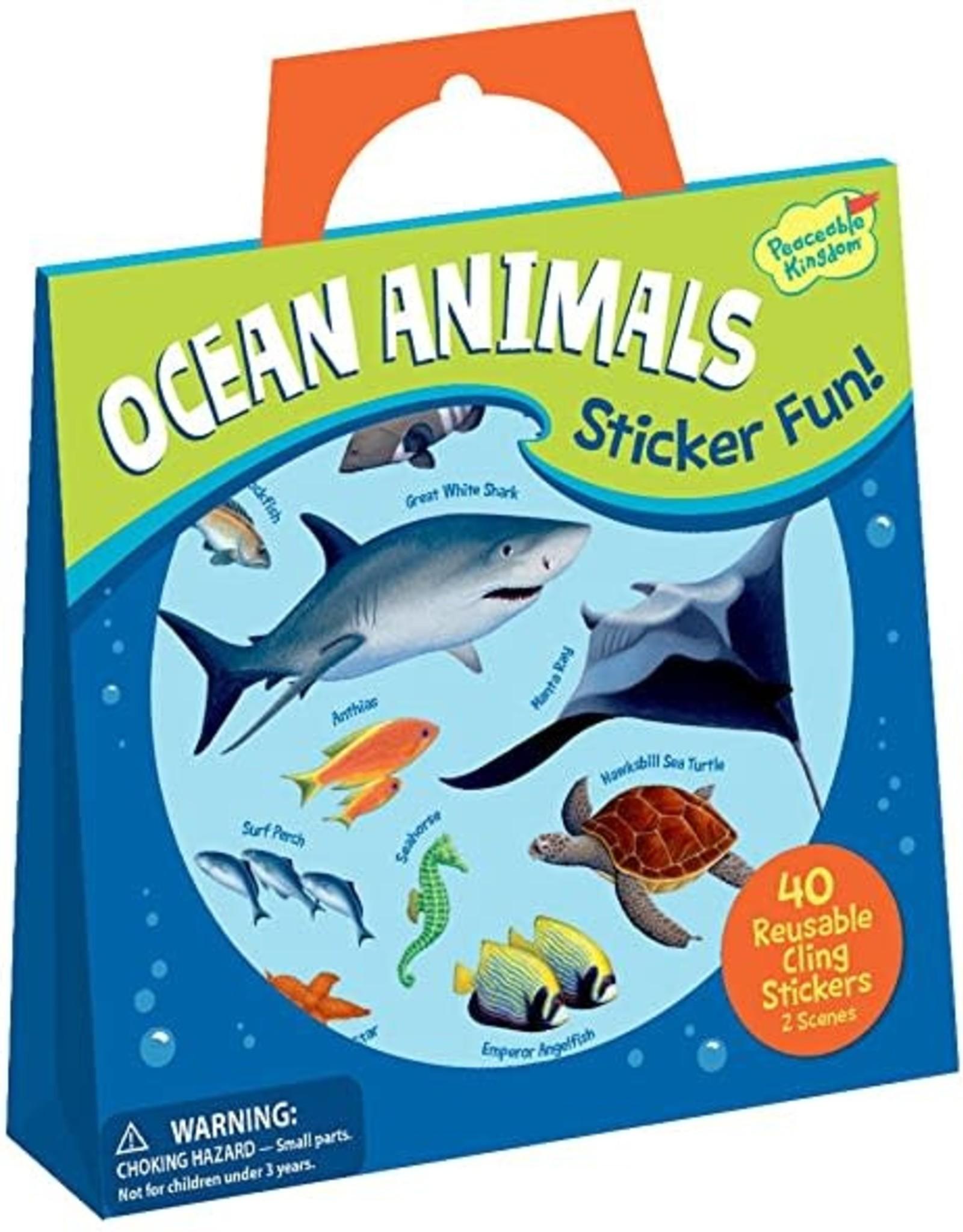 Peaceable Kingdom Reusable Sticker Tote - Ocean Animals