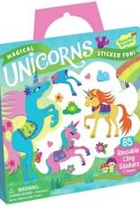 Peaceable Kingdom Reusable Sticker Tote - Magical Unicorns