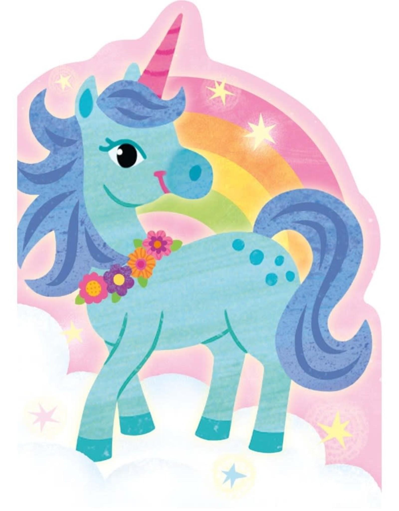 Peaceable Kingdom Unicorn & Rainbow Die-Cut Card