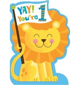 Peaceable Kingdom Age 1 Lion Baby Die-Cut Card