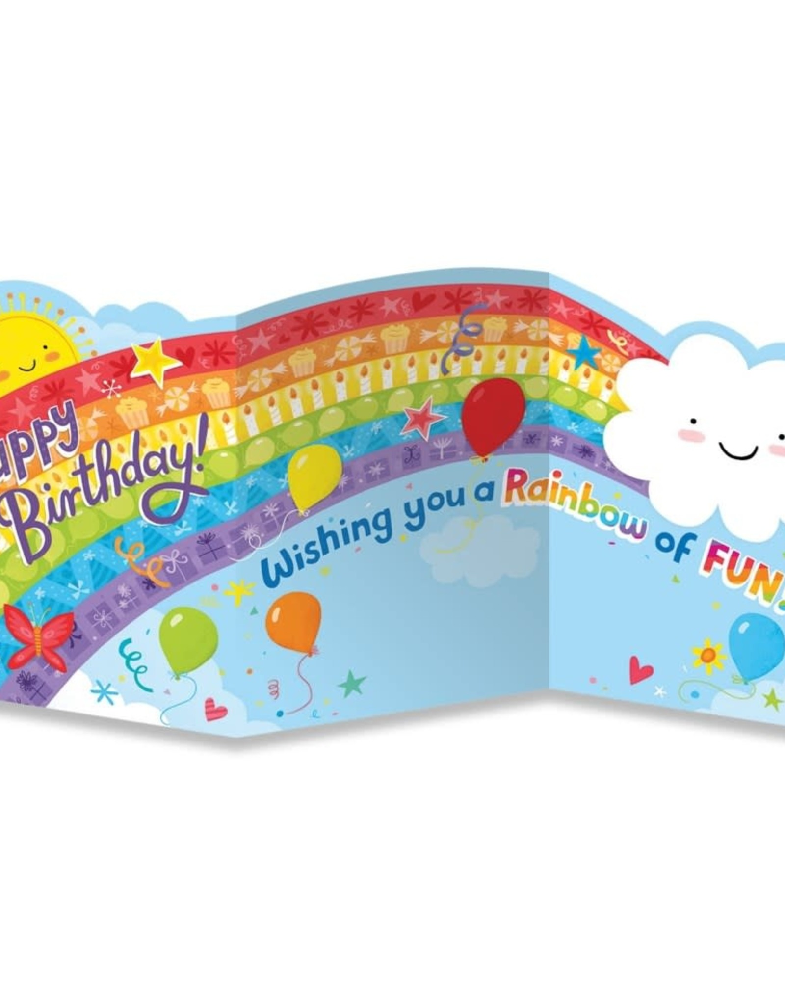 Peaceable Kingdom Rainbow Tri Fold Birthday Card