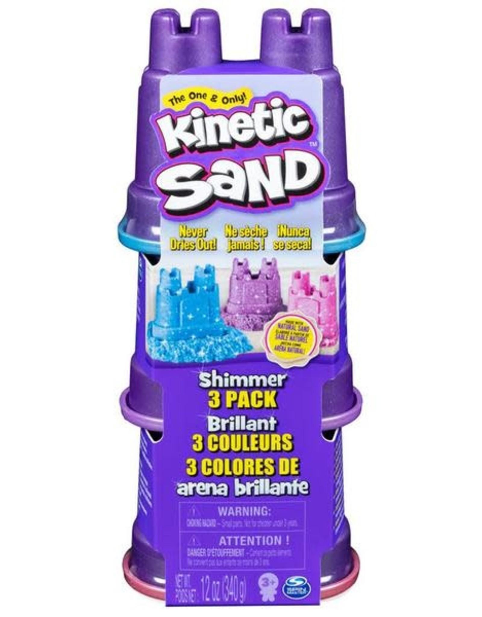 Kinetic Sand Kinetic Sand Single Shimmer 3 Pack