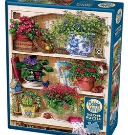 Cobble Hill Puzzles Flower Cupboard - 500 pc Puzzle