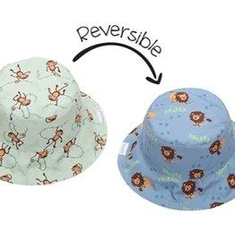 FlapJackKids Kids Reversible Sun Hat - Lion/Monkey - Medium (Age 2 - 4 years)
