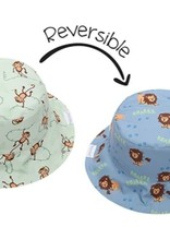 FlapJackKids Kids Reversible Sun Hat - Lion/Monkey - Small (6 mths - 2 yrs)