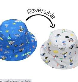 FlapJackKids Kids Reversible Sun Hat - Dinos - Small (6 mths - 2 yrs)