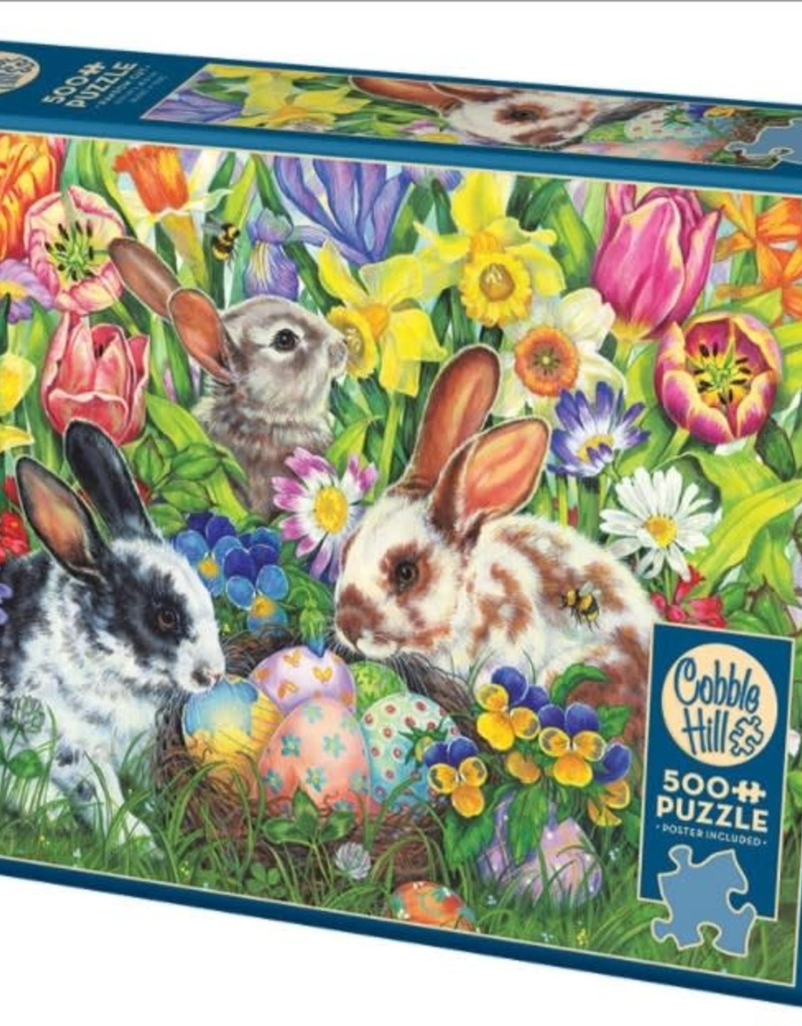 Cobble Hill Puzzles Easter Bunnies - 500 pc Puzzle