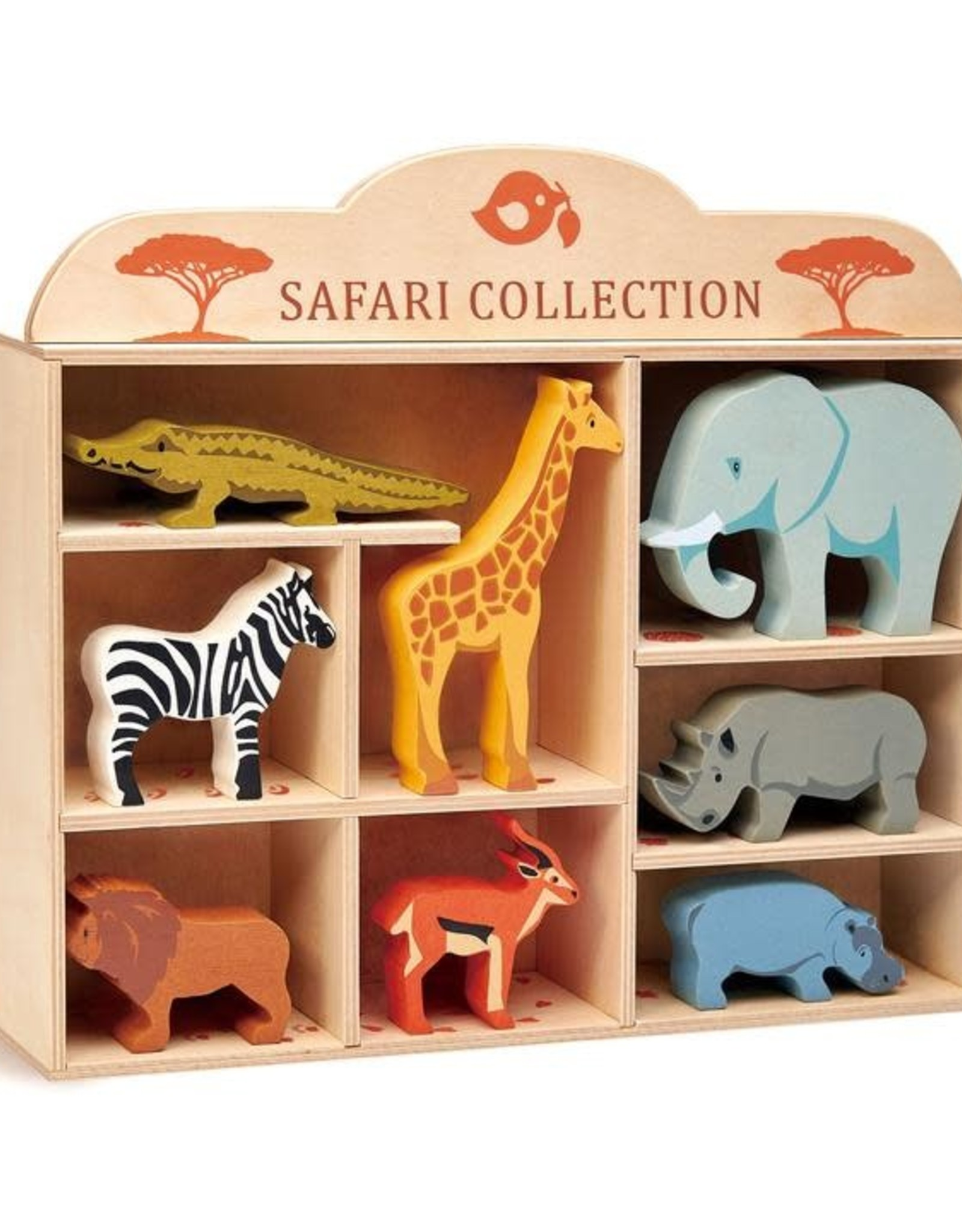 Tender Leaf Toys Wooden Animal Collection - Safari Animals