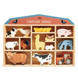 Tender Leaf Toys Wooden Animal Collection - Farmyard Animals