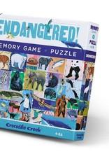 Crocodile Creek Memory Game & Puzzle - Endangered