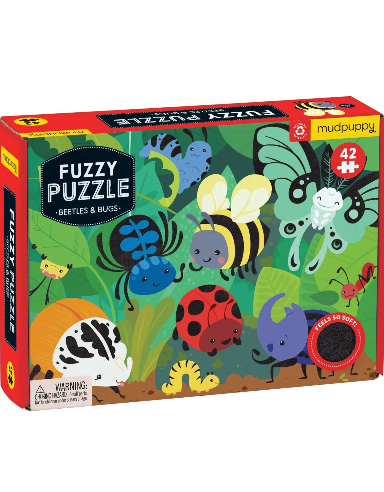 Mudpuppy Beatles & Bugs Fuzzy Puzzle