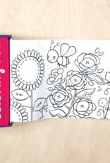Mudpuppy Flower Garden Mini Coloring Roll
