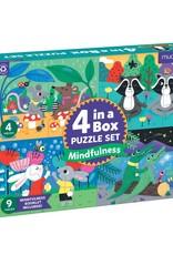 Mudpuppy Mindful 4-in-a-box Puzzle Set