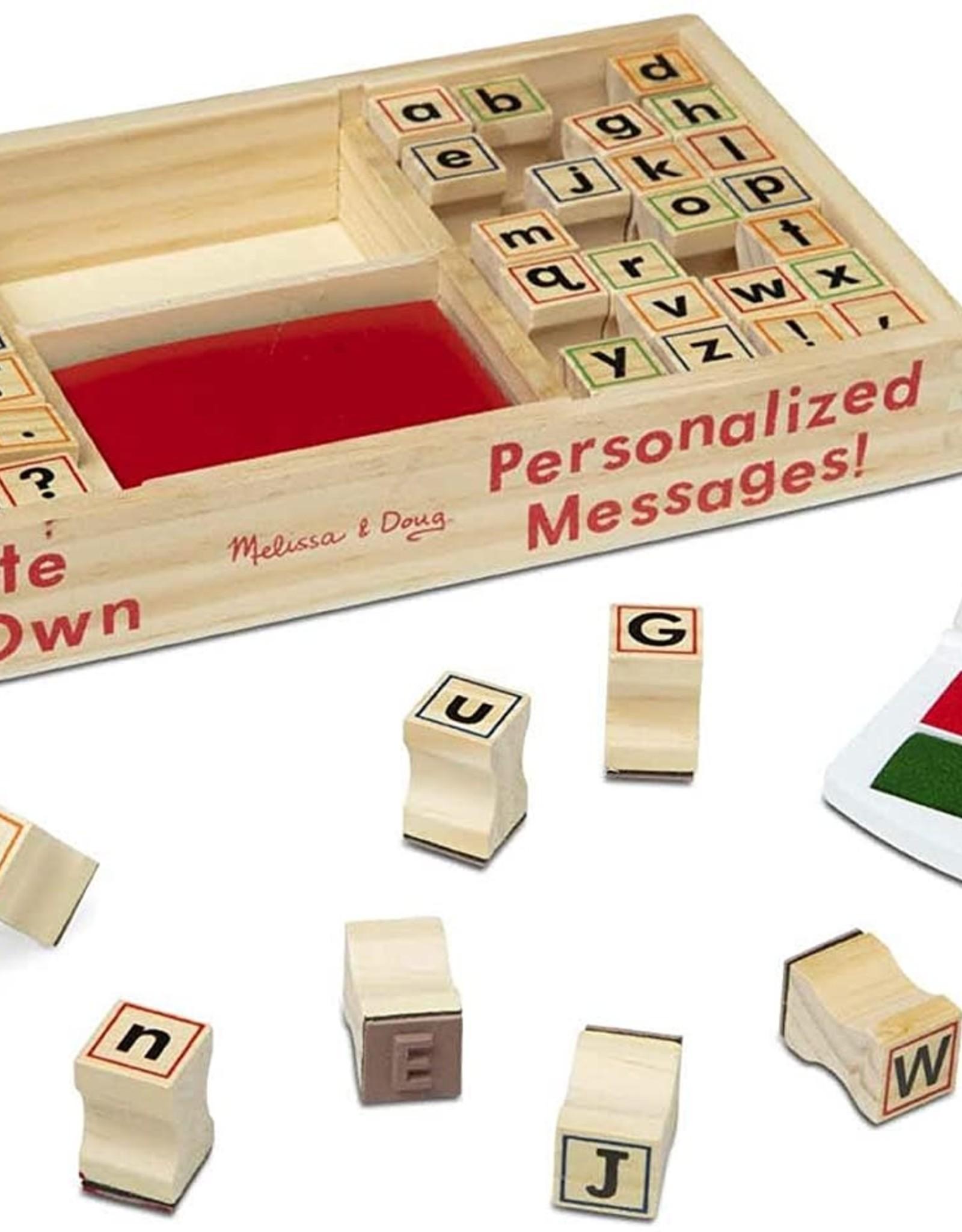 Melissa & Doug Alphabet Wooden Stamp Set