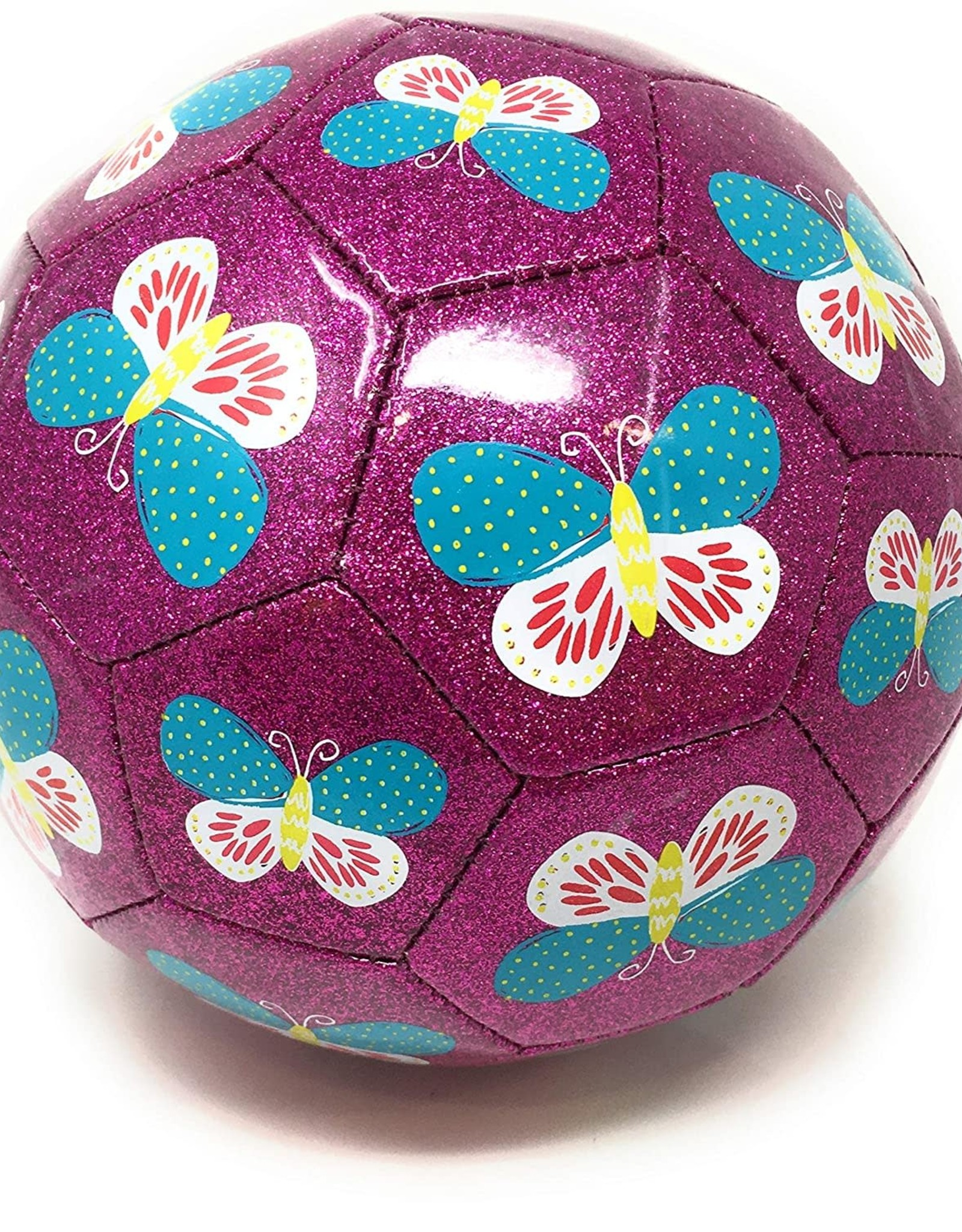 Crocodile Creek Glitter Soccer Ball - Butterfly
