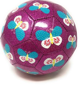 Crocodile Creek Glitter Soccer Ball - Butterfly