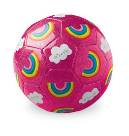 Crocodile Creek Glitter Soccer Ball - Rainbows