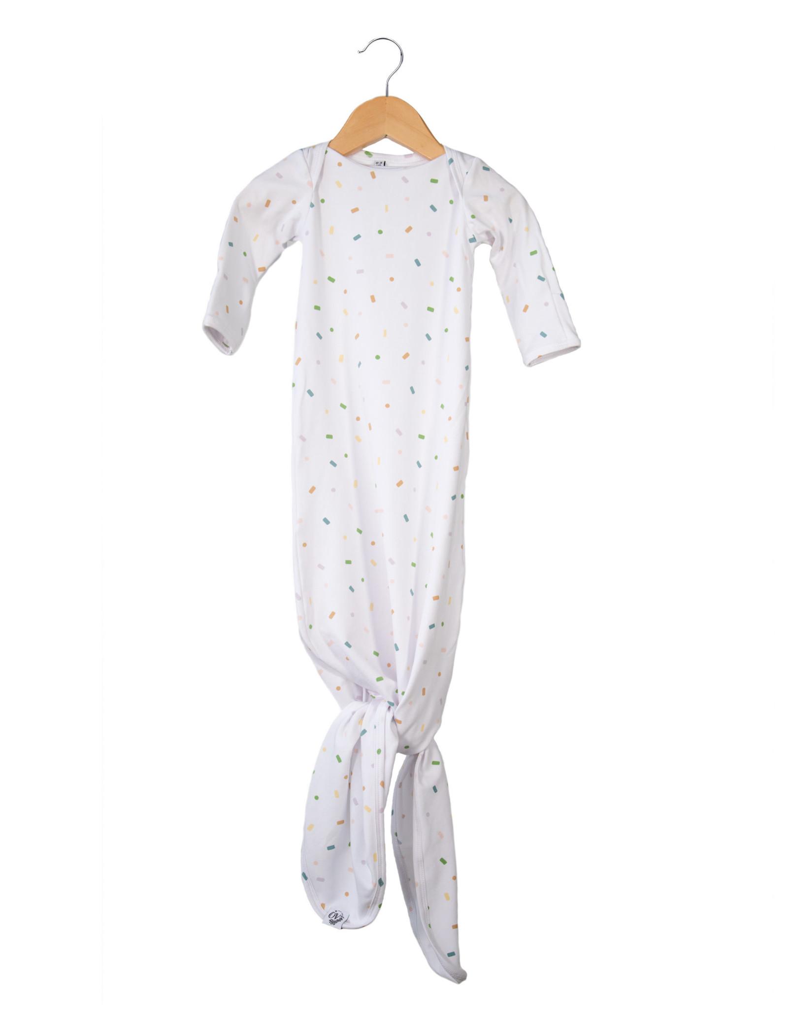 The Over Company The OVer Company Nodo Gown - Joy - Newborn