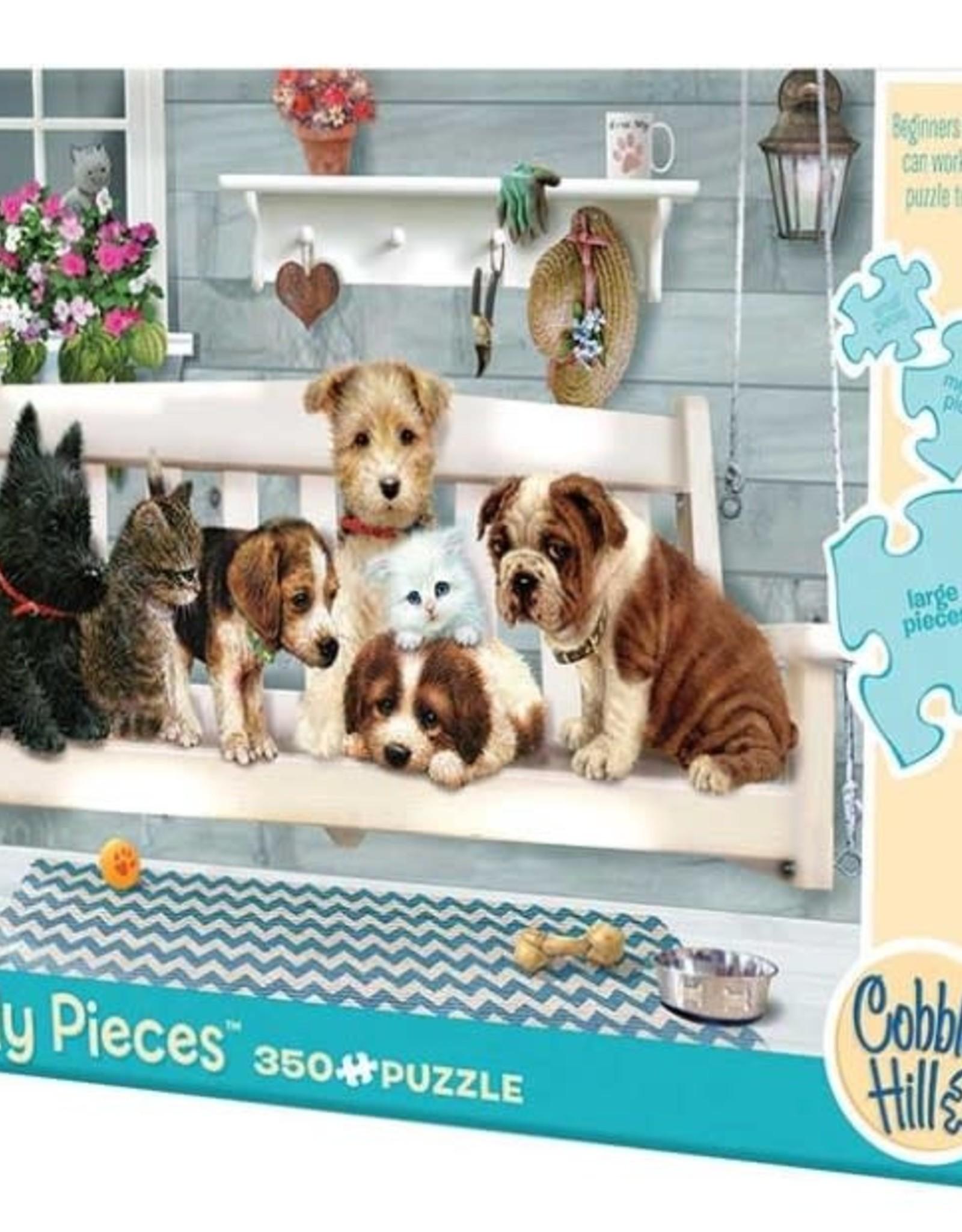 Cobble Hill Puzzles Porch Pals 350 piece puzzle - Family