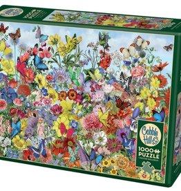 Cobble Hill Puzzles Butterfly Garden 1000 piece Puzzle
