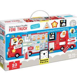 Banana Panda Banana Panda Make-a-Match Puzzle Fire Truck