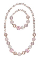 Great Pretenders Pearly Pink Necklace & Bracelet Set