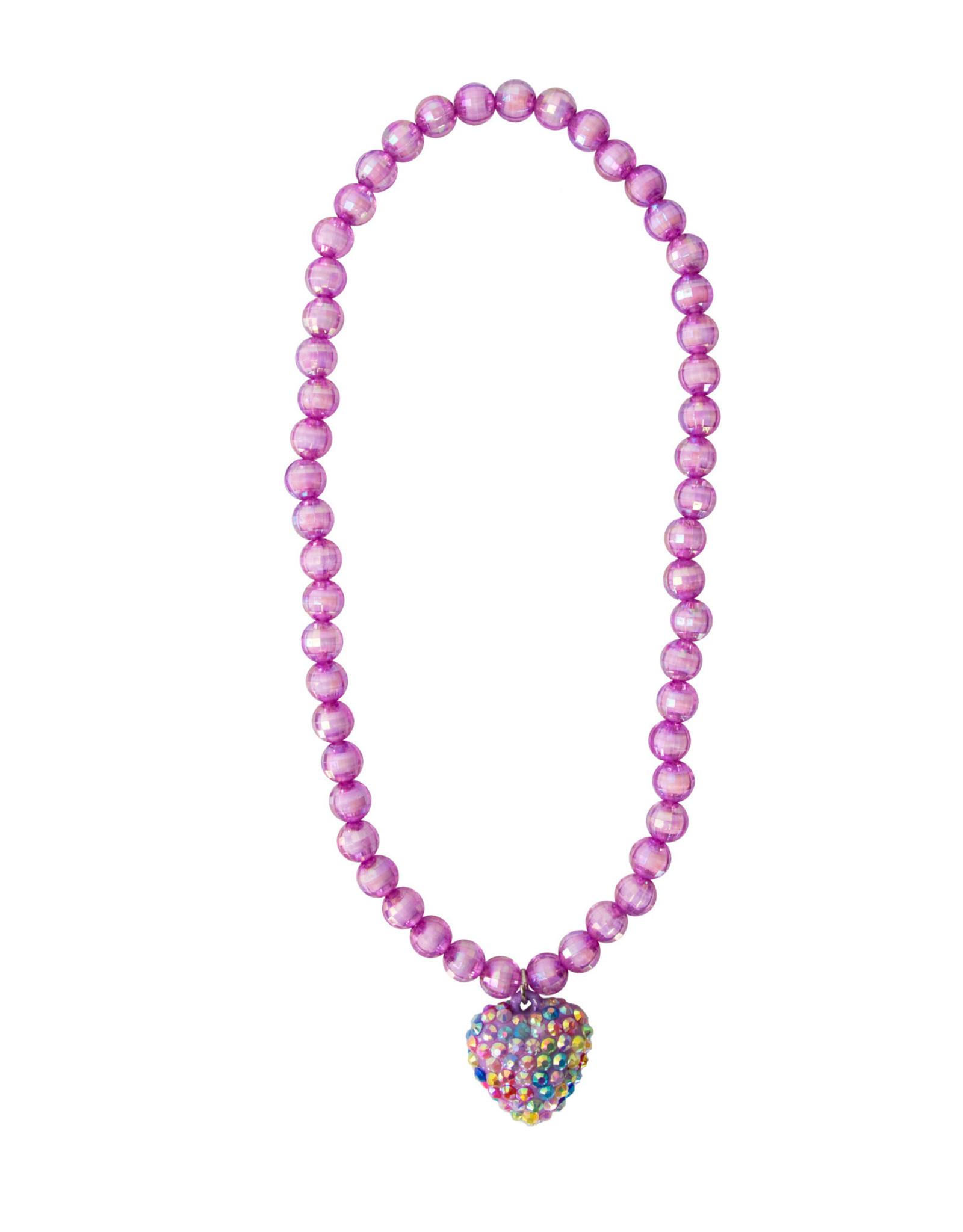 Great Pretenders Rockin Heart Necklace, Purple