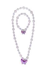 Great Pretenders Jazzy Bead Butterfly Necklace & Bracelet Set