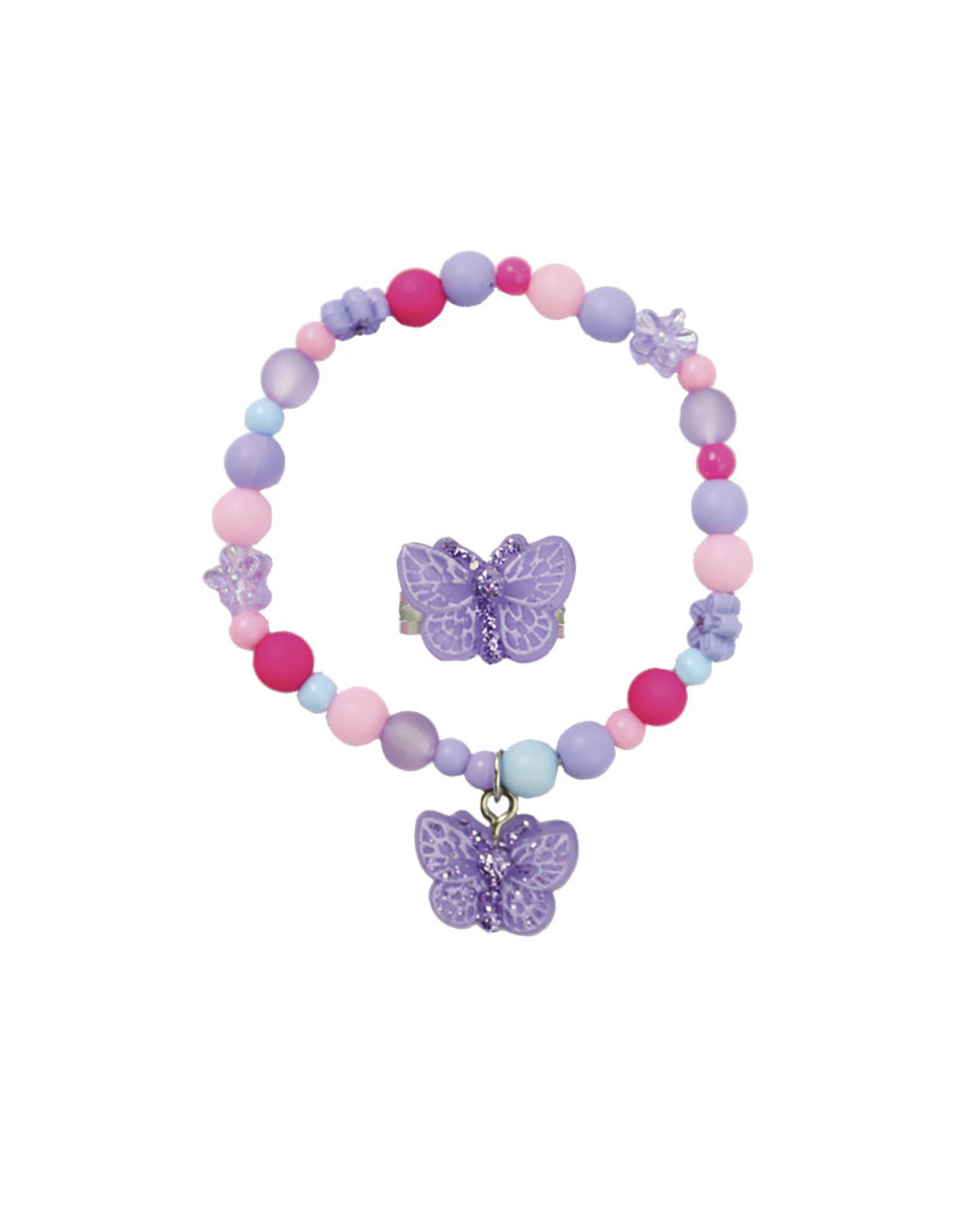 Great Pretenders Sparkle Butterfly Bracelet and Ring Set