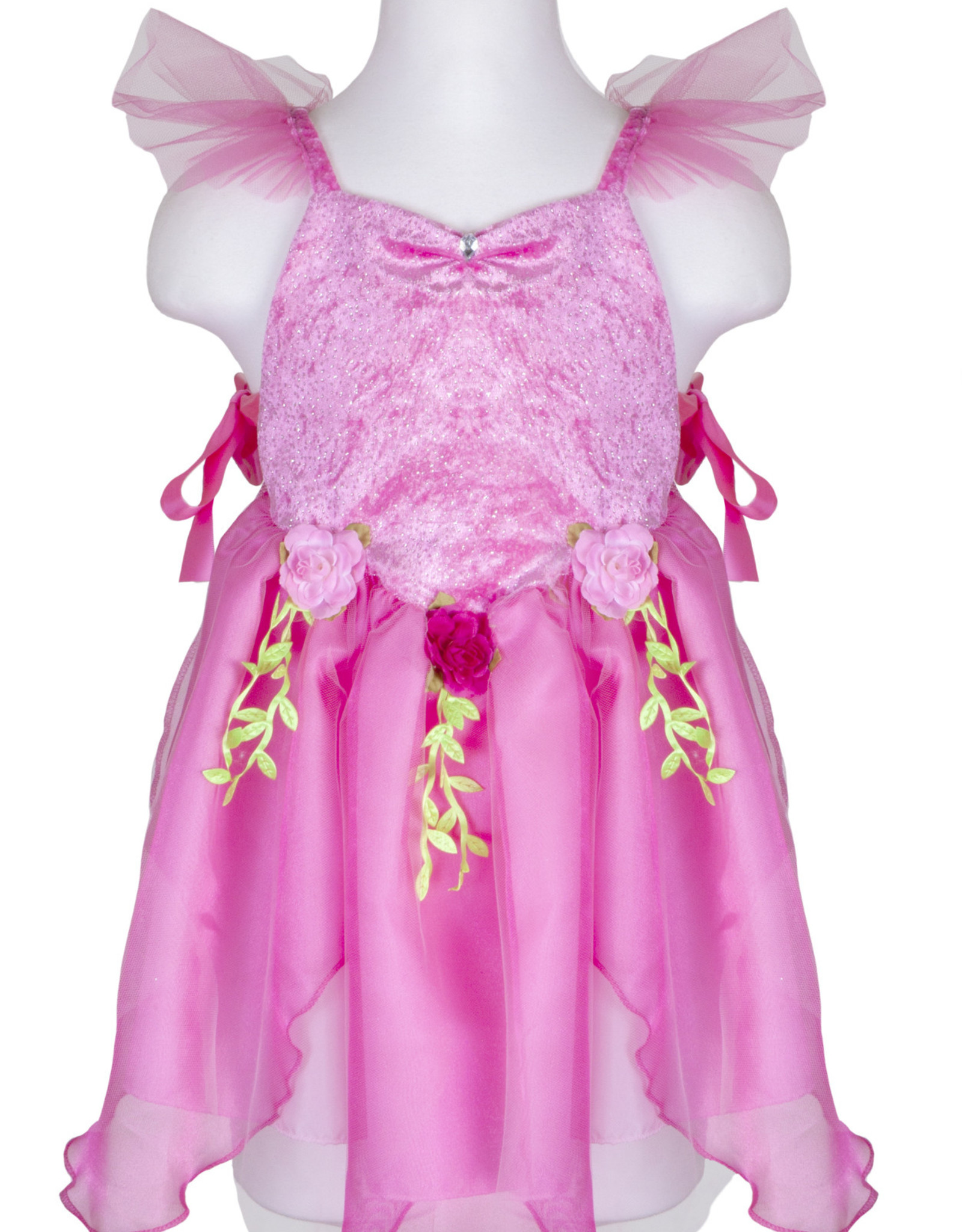 Great Pretenders Forest Fairy Tunic, Dark Pink, Size 3-4