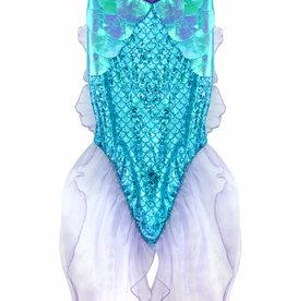 Great Pretenders Mermaid Glitter Skirt Set - Blue