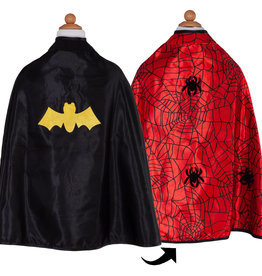 Great Pretenders Reversible Spider/Bat Cape & Mask, Size 3-4